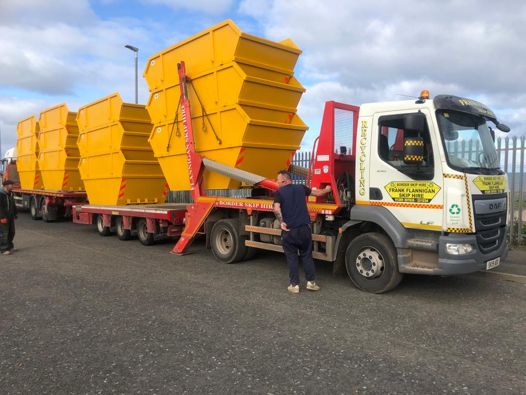 New Skip Delivery in Northumberland